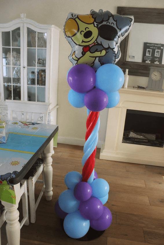 IDecco ballondecoratie helmond ballonnen ballon pilaar verjaardag