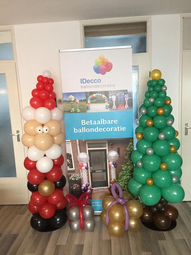 ballondecoratie sinterklaas kerst kerstmis feestdagen decoratie idecco helmond 2