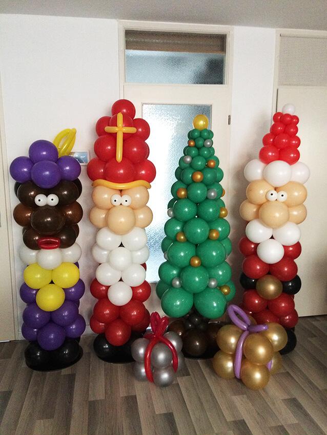 ballondecoratie sinterklaas kerst kerstmis feestdagen decoratie idecco helmond