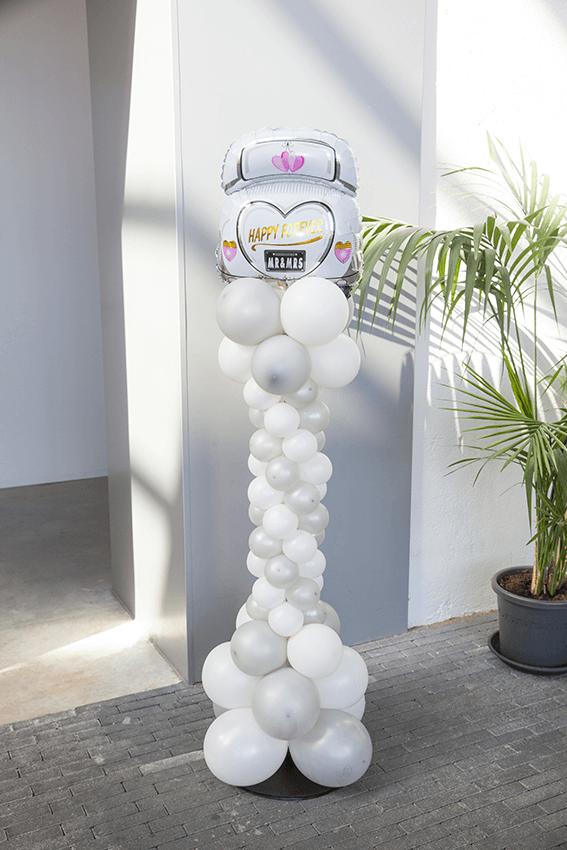 IDecco ballondecoratie helmond ballonnen ballon pilaar bruiloft communie